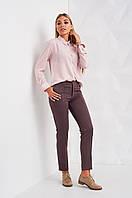 Облегающие женские брюки с карманами  Мексика 2418 S Капучино
