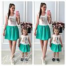 Набор для мамы и ребенка платье летнее с рисунком 28md10, фото 2