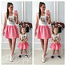 Набор для мамы и ребенка платье летнее с рисунком 28md10, фото 4