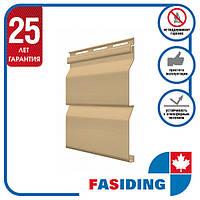 Сайдинг виниловый. Панель FaSiding Standard (Т-01) 3,85х0,255 м. Цвет: Арахис