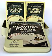 Набор карт для покера 2 колоды 100% пластик премиум качества