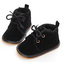 Теплые пинетки-ботиночки 11 см., фото 1