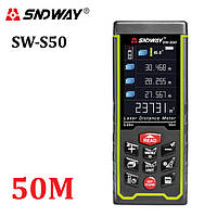 Sndway SW-S50 лазерная рулетка, дальномер от 0,05 до 50 м акб в комплекте, фото 1