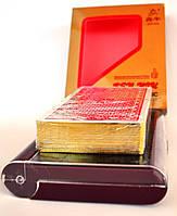 Карты для покера 100% пластик Gold с золотым напылением