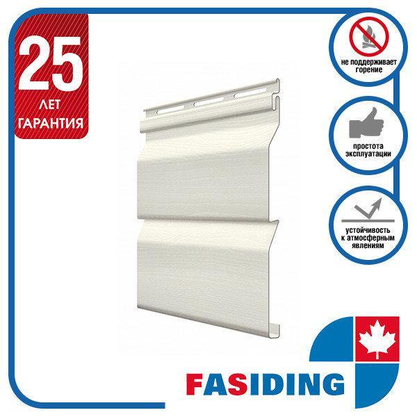 Сайдинг виниловый. Панель FaSiding Standard (Т-01) 3,85х0,255 м. Цвет: Лён