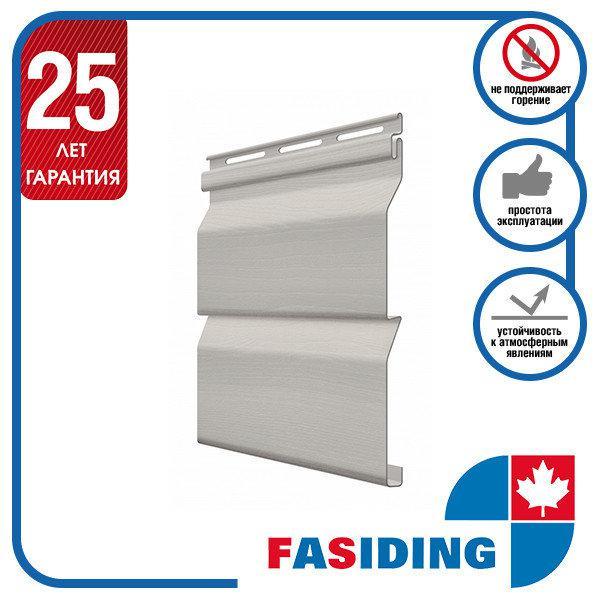 Сайдинг виниловый. Панель FaSiding Standard (Т-01) 3,85х0,255 м. Цвет: Маковые зёрна