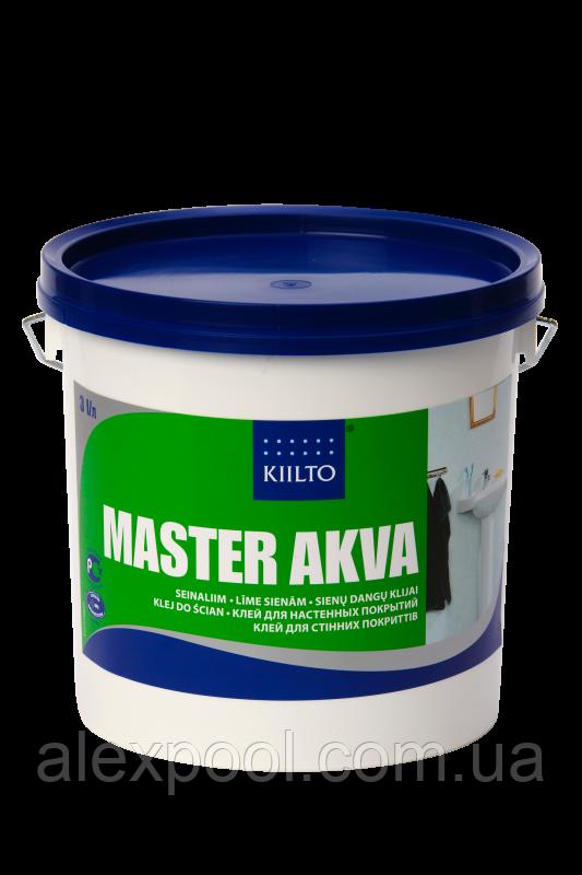 Клей KIILTO MASTER Akva 1 литр. Клей для стеновых покрытий