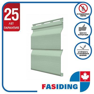 Сайдинг виниловый. Панель FaSiding Standard (Т-01) 3,85х0,255 м. Цвет: Папоротник