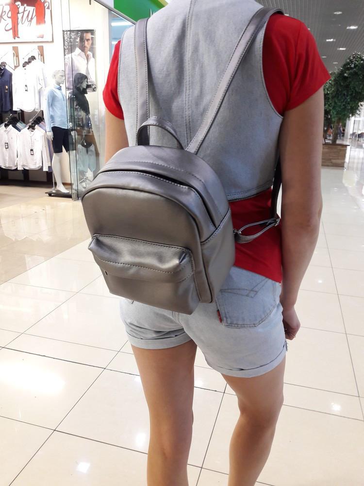 Женский рюкзак Самбег Брикс SSH темное серебро скидка