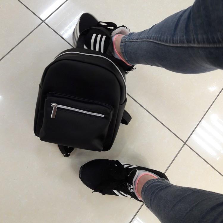 Женский маленький рюкзак Самбег Брикс SSSP черный скидка