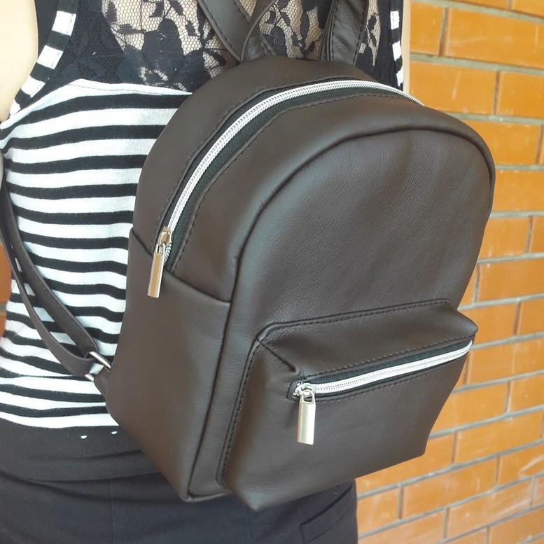Женский рюкзак вместительный шоколад скидка