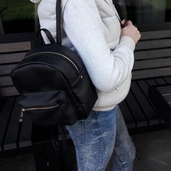 Женский рюкзак маленький черный скидка