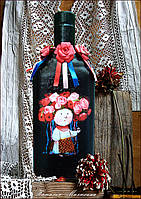 Украинский сувенир - бутылка Украиночка Подарок в украинском стиле, фото 1