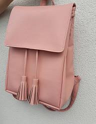 Рюкзак женский пудра с косточками для ноутбука скидка