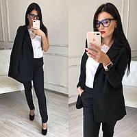 Женский деловой костюм с пиджаком 58ks725