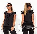 Женская офисная легкая блуза батал с воланами fmx8865, фото 2