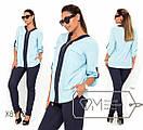 Женская двухцветная блуза в больших размерах свободного кроя fmx8997, фото 2