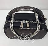 Женская графитовая сумочка STELLINA из питона на цепочке, фото 3