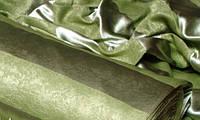 Портьерная ткань blackout широкая полоса (оливковый), фото 1