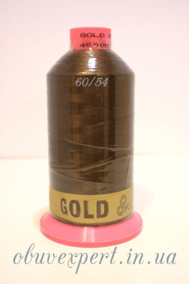 Швейная нить  Gold Polydea 60 № 54, цв. коричневый