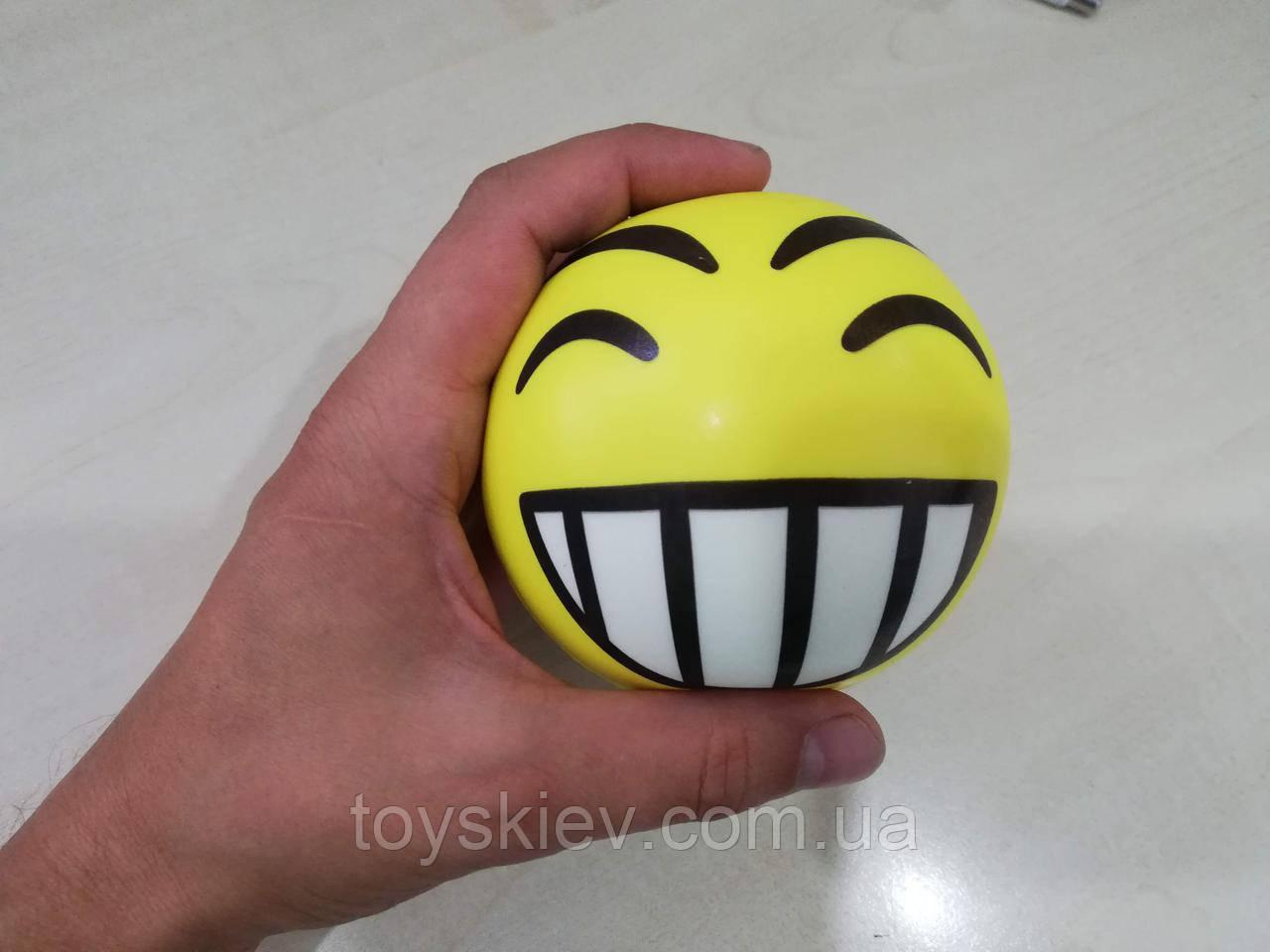 Сквиши SQUISHY Смайлик-1 Сквиш Антистресс игрушка большая 10*10см.
