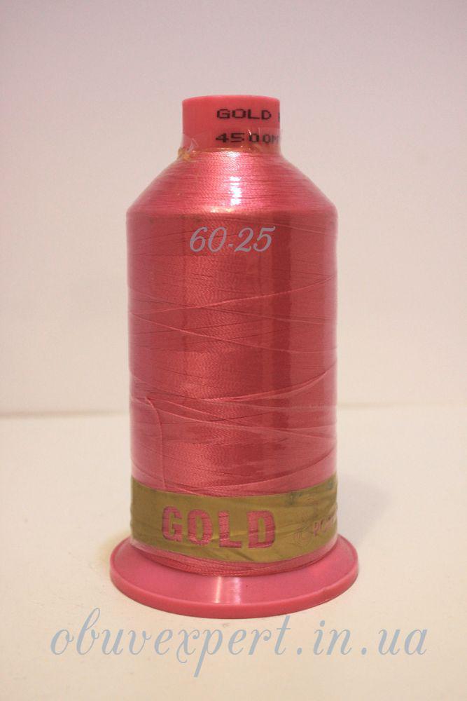 Швейная нить Gold Polydea 60 № 25, цв. розовый