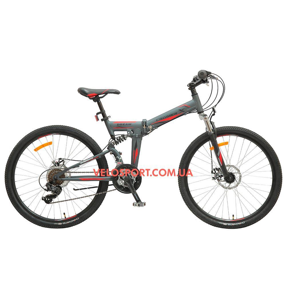 Складной велосипед Crosser Dream 26 дюймов серый
