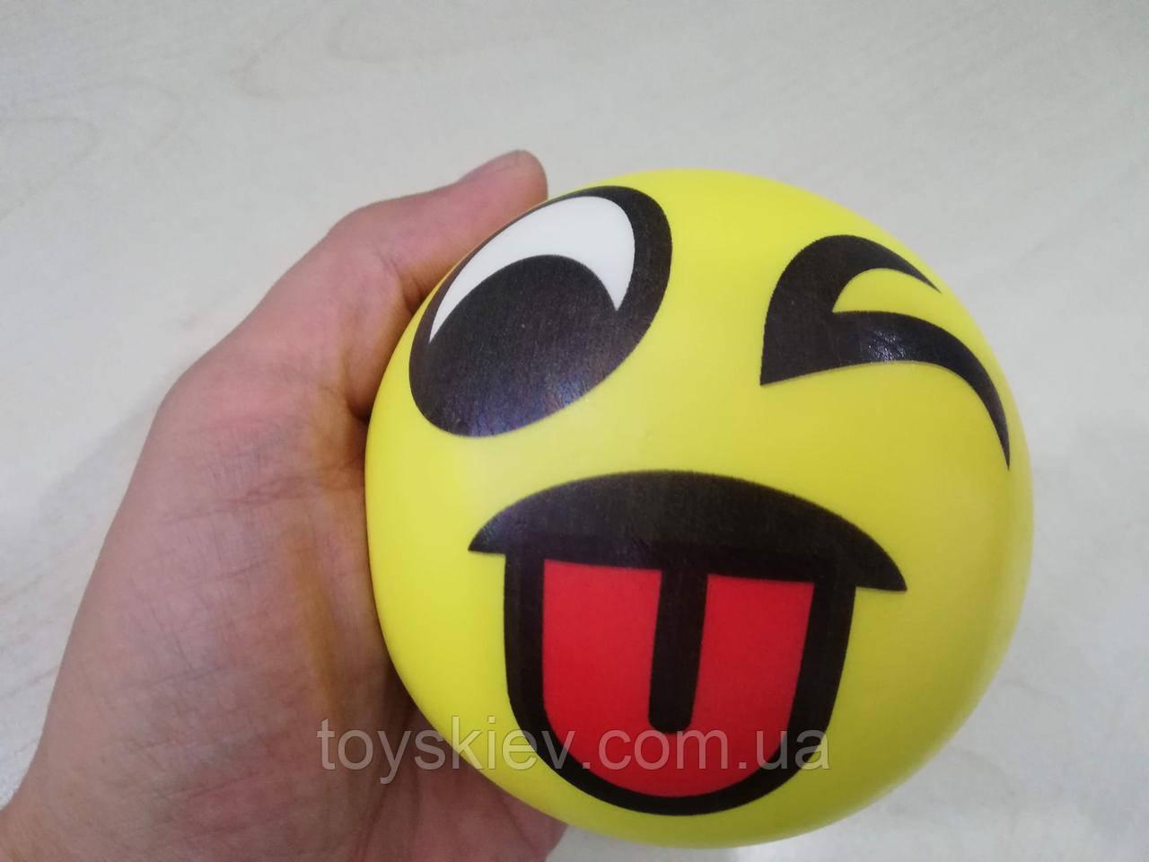 Сквиши SQUISHY Смайлик-2 Сквиш Антистресс игрушка большая 10*10см.