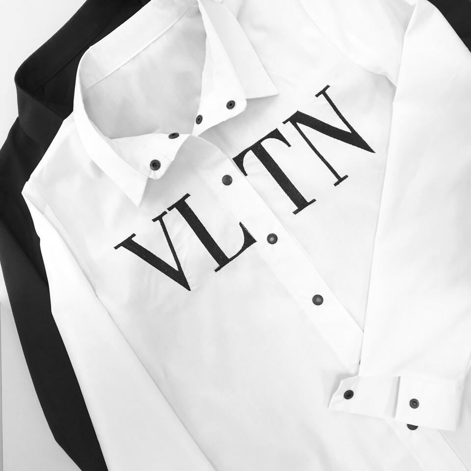 49d400dd69f Белая и черная женская хлопковая рубашка с надписью 1813195 -  Интернет-магазин одежды