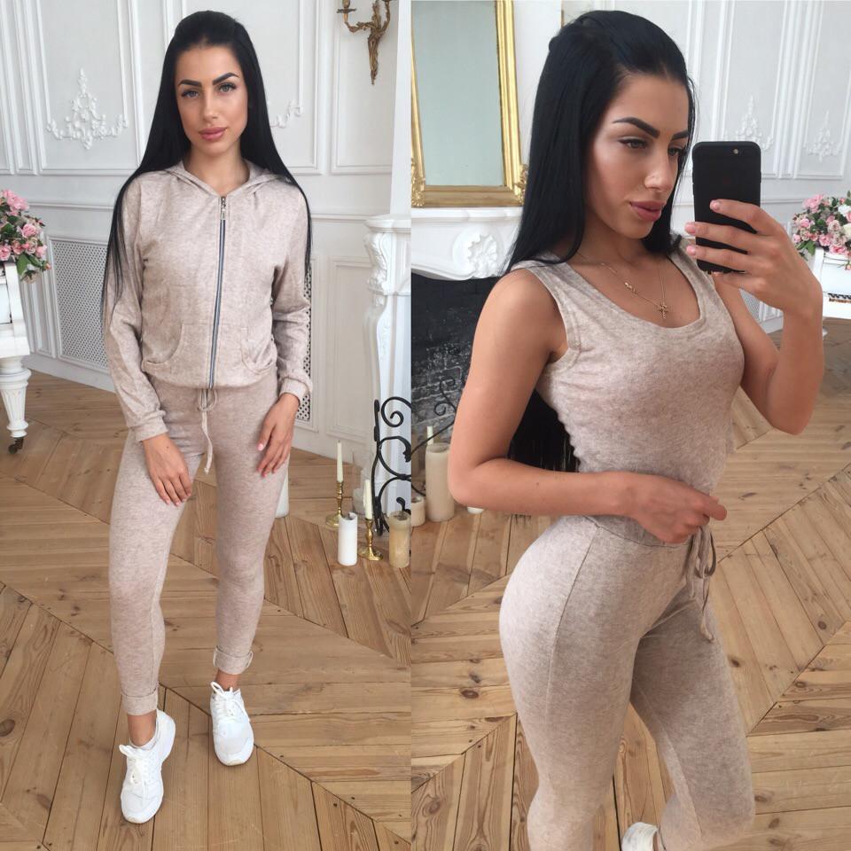 cc3b393f Женский спортивный костюм-тройка из ангоры 4105412 - Интернет-магазин одежды