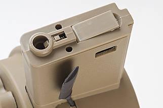 Magazynek bębnowy Attack Type 1500 kulek для реплик M4/M16 - Tan [G&P] (для страйкбола), фото 3