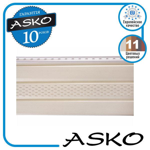 Панель софит ASKO с перфорацией 3,5м., 1,07м. кв./полоса. Цвет: Бежевый