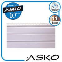 Панель софит ASKO без перфорации 3,5м., 1,07м. кв./полоса. Цвет: Белый