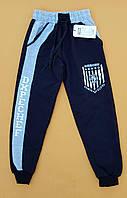 Спортивные штаны для мальчика на 13-16 лет черного цвета оптом