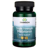 Антистресс и крепкий сон - Мелатонин тройной силы / Triple Strength Melatonin, 10 мг 60 капcул
