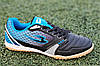 Футзалки, бампы, сороконожки кроссовки мужские черные синие ( код 6151 )