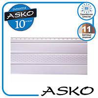 Панель софит ASKO с перфорацией 3,5м., 1,07м. кв./полоса. Цвет: Белый