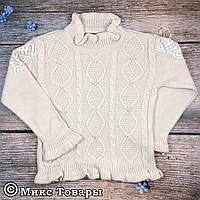 Детский свитерок для девочек Акрил+ Шерсть с розовым оттенком Размеры: 3,4,5,6 лет (7014-2)