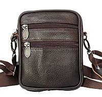 Коричневая маленькая кожная сумка для мужчин (9950к)