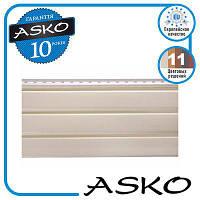 Панель софіт ASKO без перфорації 3,5 м., 1,07 м. кв./панель. Колір: Бежевий