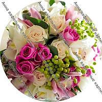 Вафельные картинки букет цветов