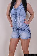 Комбинезон джинсовый женский UNO размеры с 44 по 48 Размеры в наличии : 40,42 арт.1589