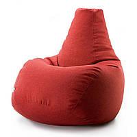 Кресло-мешок Груша Микророгожка(Саванна) Красный RХХL-0208