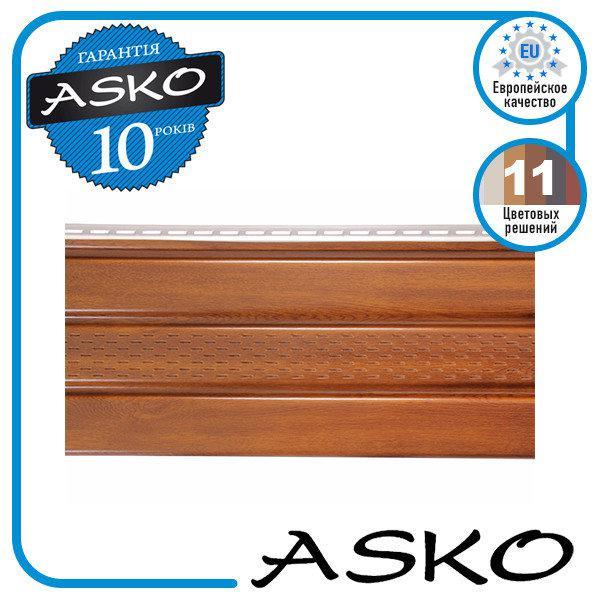 Панель софит ASKO с перфорацией 3,5м., 1,07м. кв./полоса. Цвет: Золотой Дуб