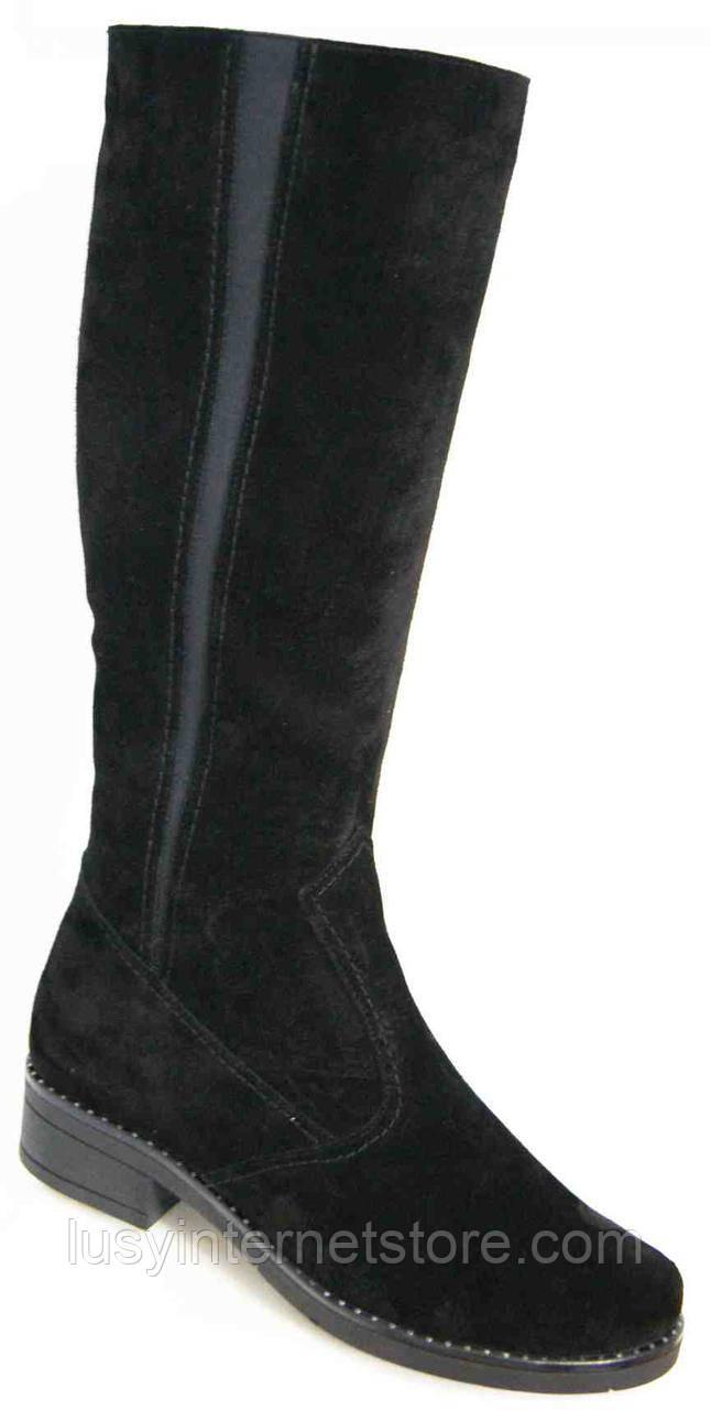 2ed7e6a96358 Сапоги женские зима замша большого размера, женская обувь больших размеров  от производителя модель МИ5211-