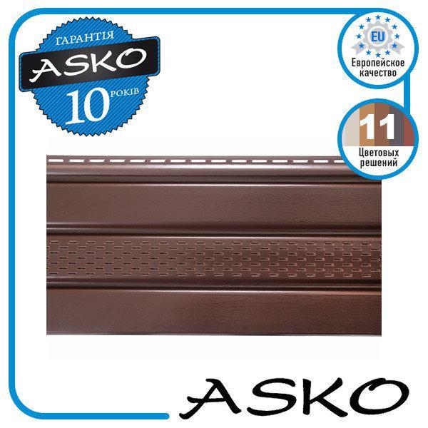 Панель софит ASKO с перфорацией 3,5м., 1,07м. кв./полоса. Цвет: Коричневый