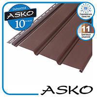 Панель софит ASKO без перфорации 3,5м., 1,07м. кв./полоса. Цвет: Коричневый