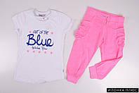 Костюм для девочки футболка + бриджи трикотажные WANEX Рост в наличии : 116 арт.2-21034
