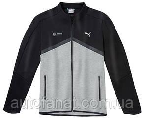 Оригинальная мужская толстовка Mercedes AMG Petronas F1 Men's Sweat Jacket, Black/Grey (B67995473)