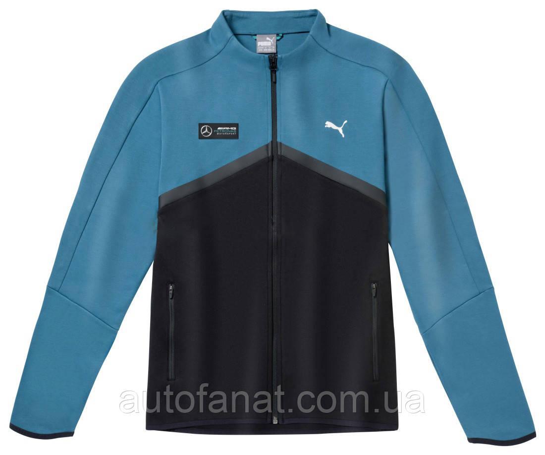 Оригинальная мужская толстовка Mercedes AMG Petronas F1 Men's Sweat Jacket, Blue/Black (B67995467)